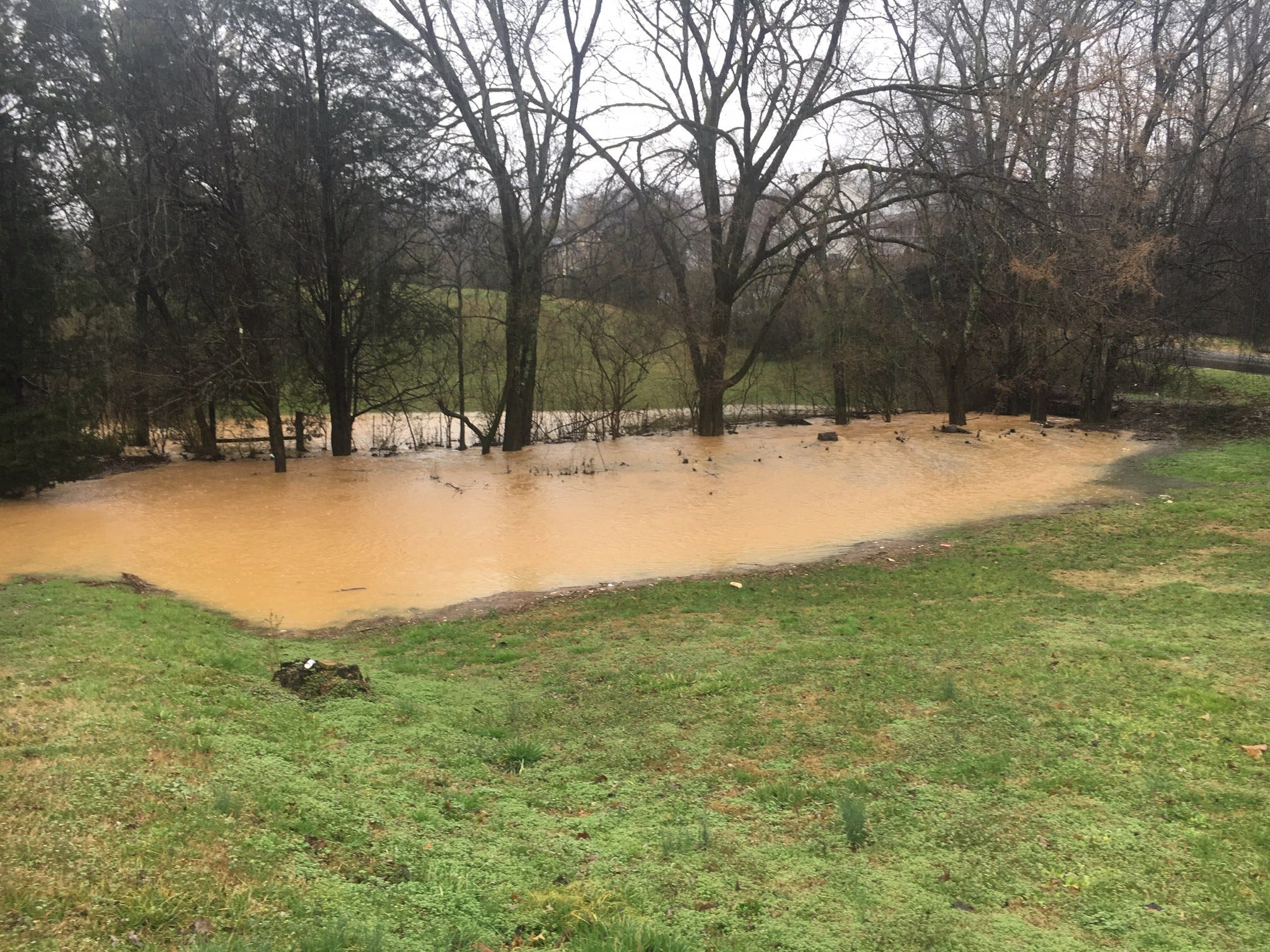 Flooding at Wilkerson Road and Wilkesboro Lane on Saturday, Feb. 23, 2019.