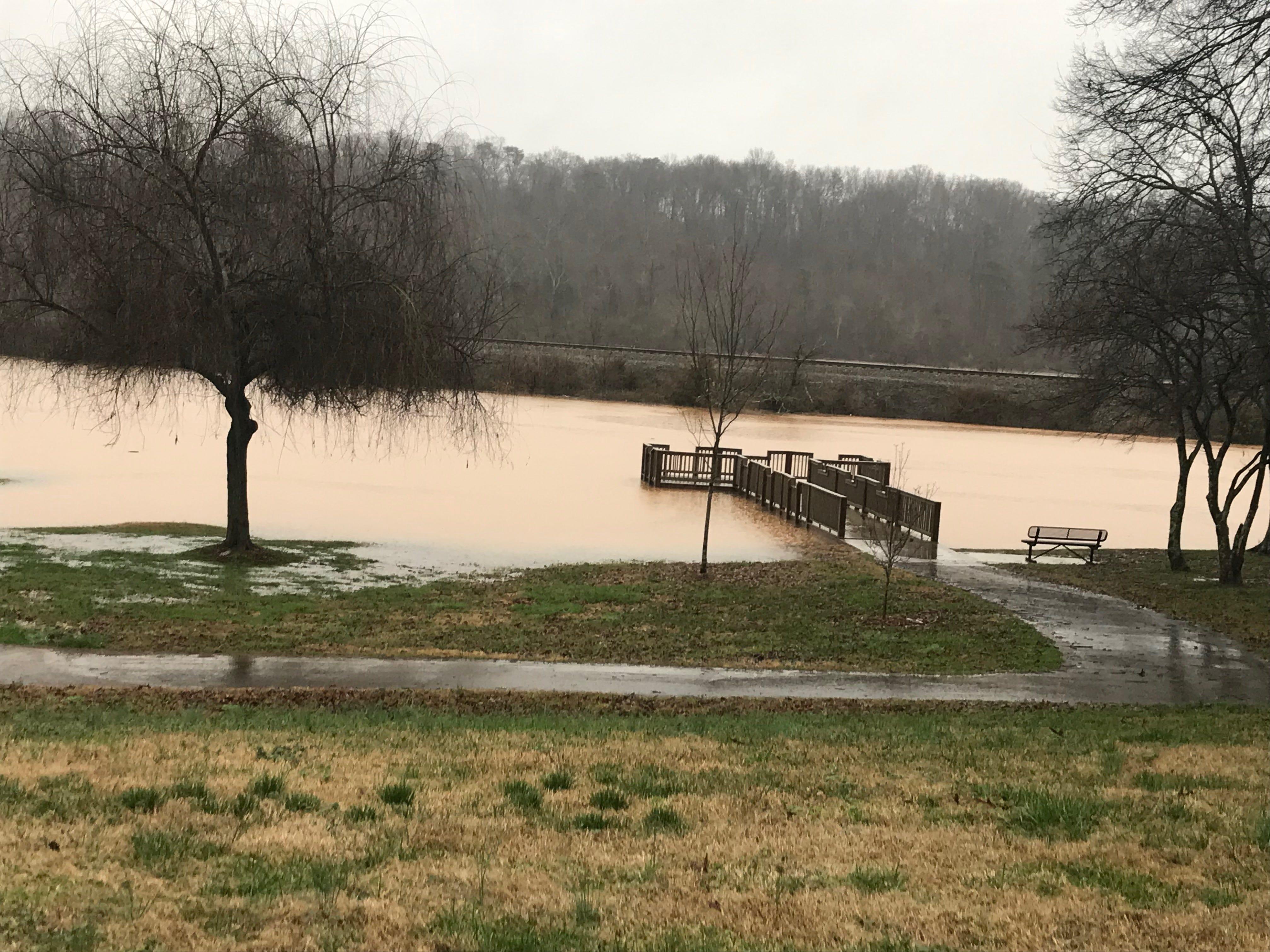 Flooding at Anchor Park in Farragut, TN