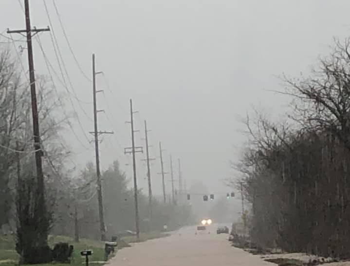 Westland and Sandford Day roads in Knoxville are flooded on Saturday, Feb. 23, 2019.