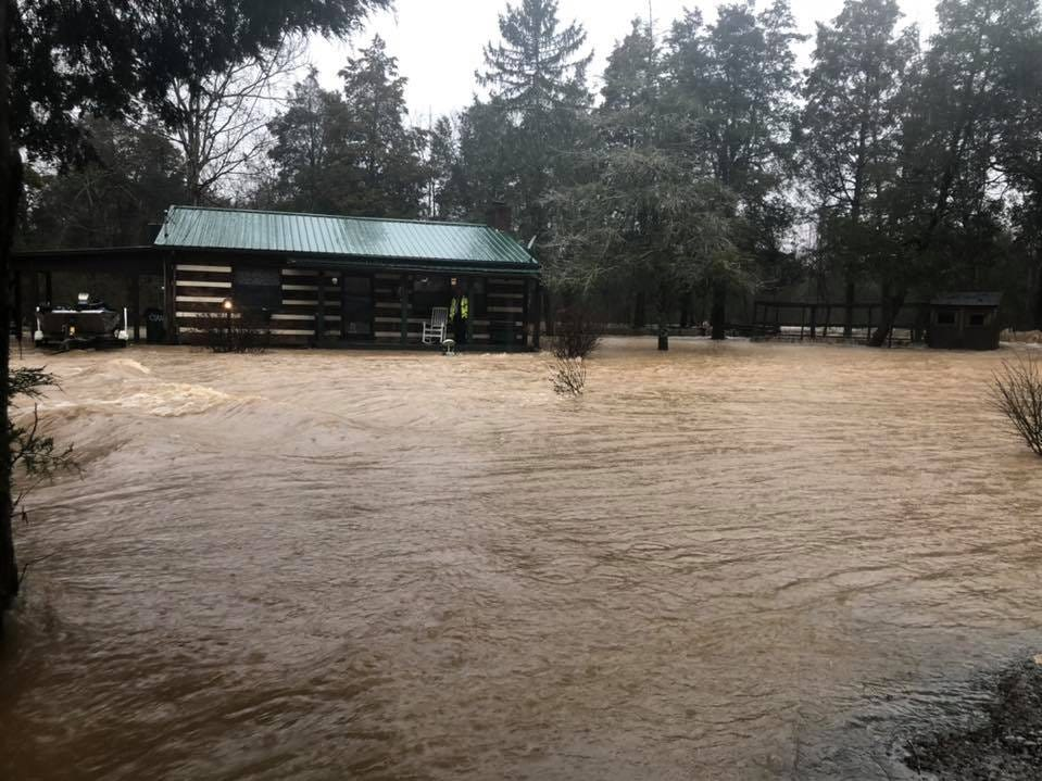Flooding in Loudon County on Saturday, Feb. 23, 2019.