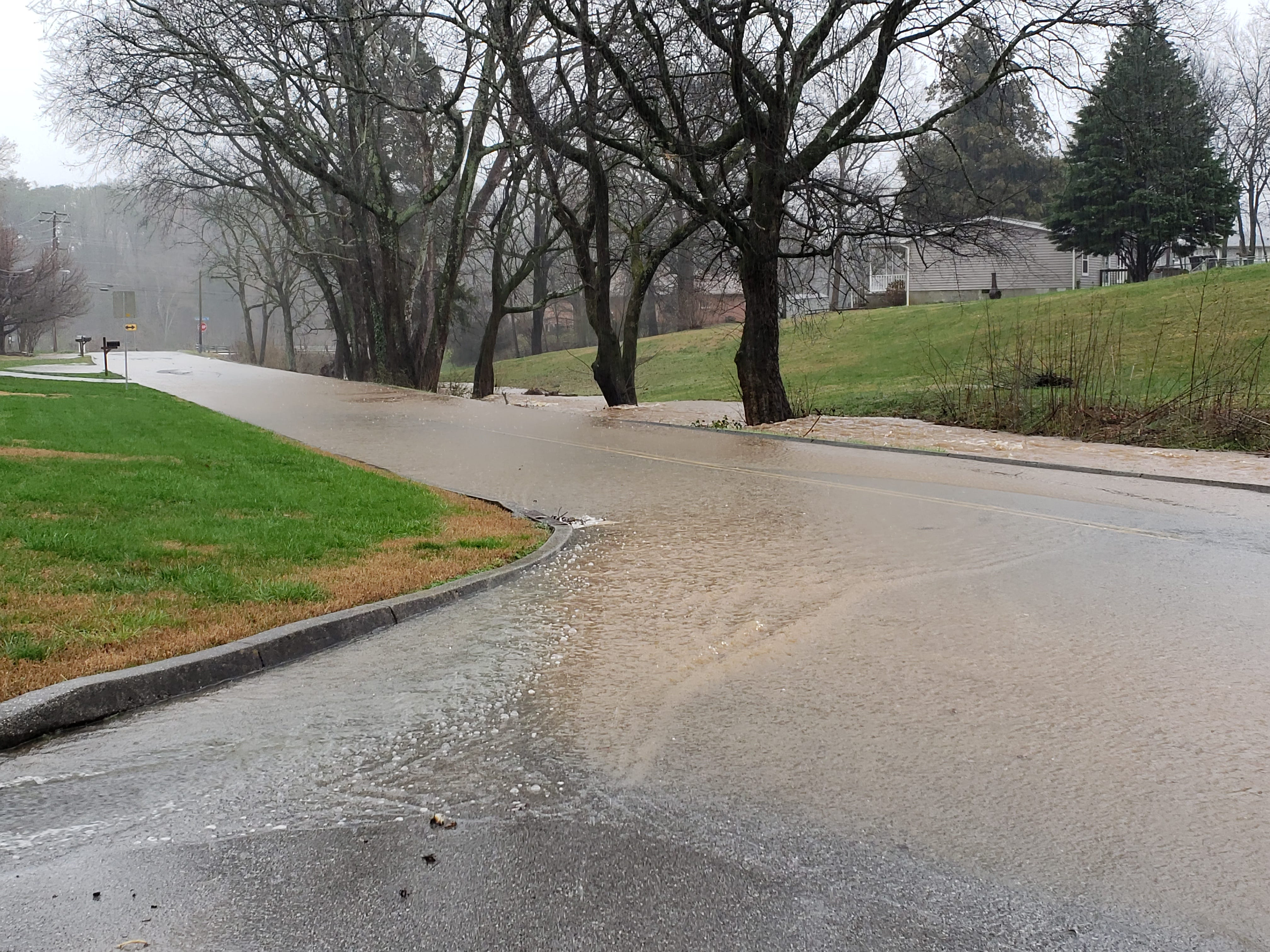 Flooding on Red Mill Lane in Farragut on Saturday, Feb. 23, 2019.