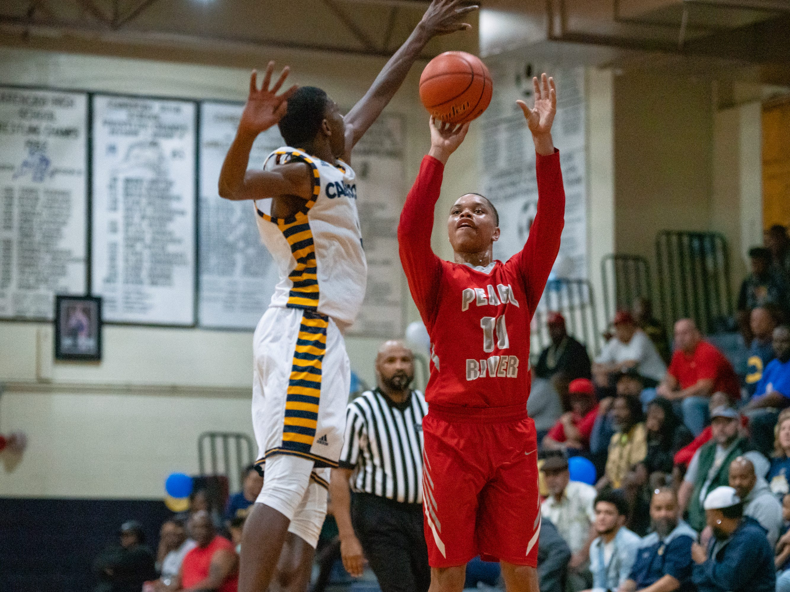 The Carencro High Bears take on the Pearl River Rebels at home on Friday, Feb. 22, 2019.