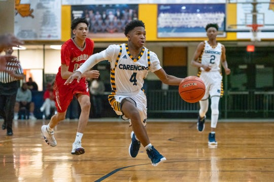 Carencro High senior guard Artrell Marks has been a solid contributor for the Bears, averaging seven points, 4.3 assists and two steals per game.