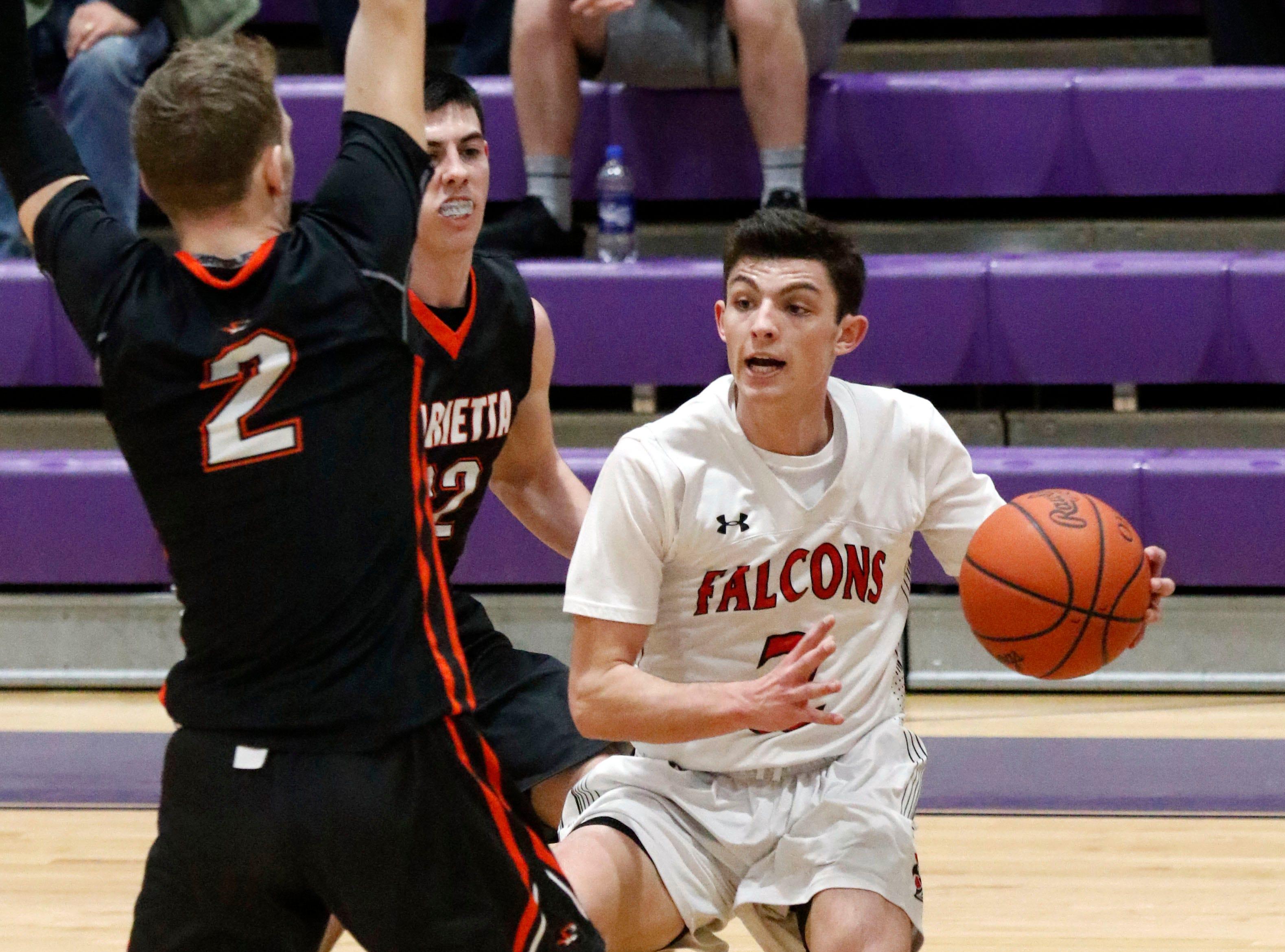 Fairfield Union defeated Marietta 48-33 Saturday, Feb. 23, 2019, at Logan High School in Logan.