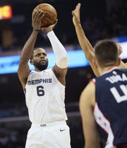 The Grizzlies' C.J. Miles is making 36.4 percent of his 3-pointers through 13 games since arriving as part of the Marc Gasol trade.