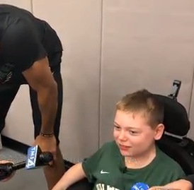 Giannis Antetokounmpo and the Bucks making sure 12-year-old  has a perfect day as part of Make-A-Wish