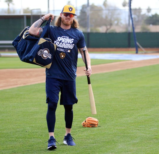 Ben Gamel  came to  the Brewers just before Christmas as part of a deal that sent Domingo Santana to Seattle.