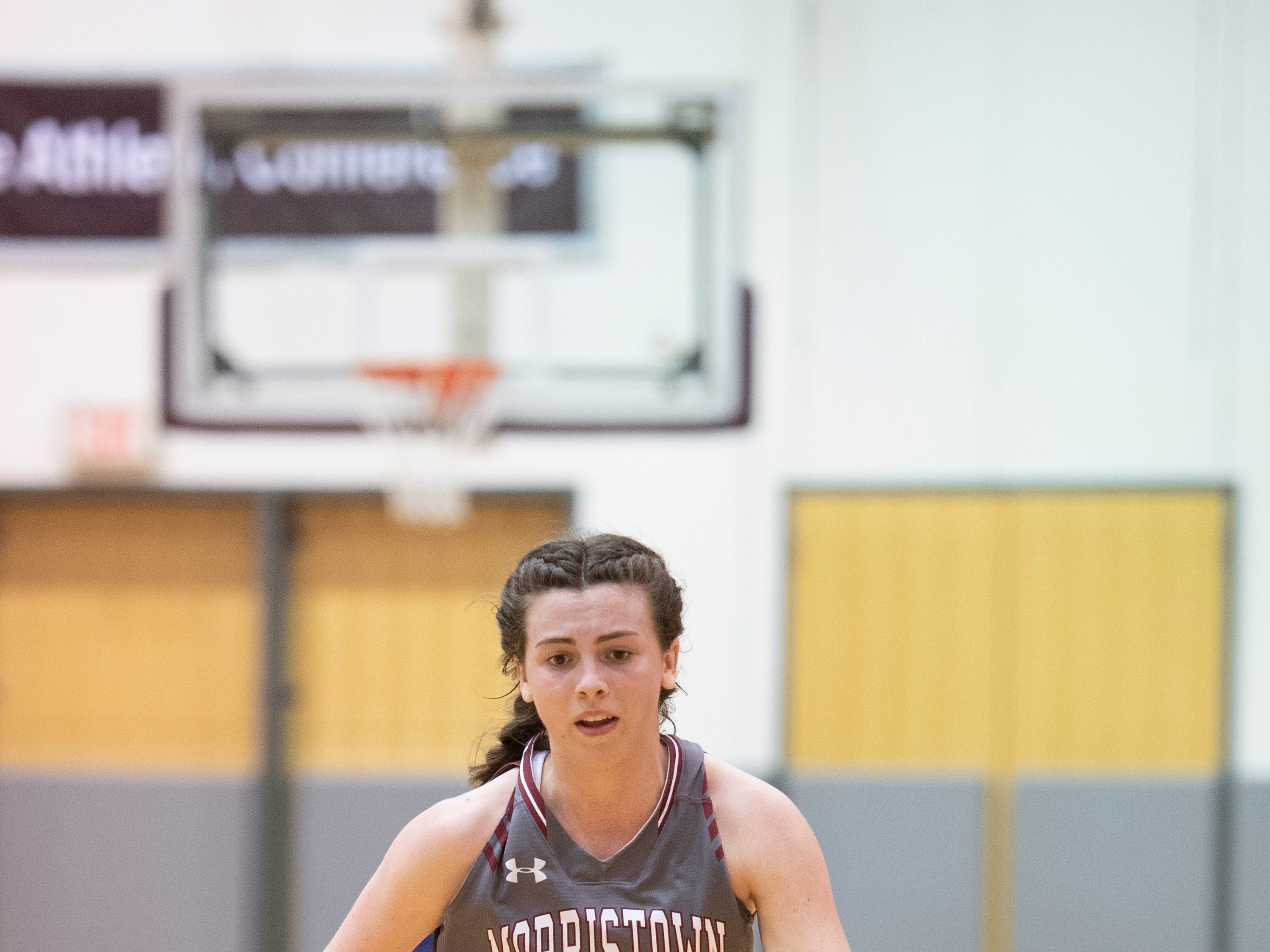 Chatham vs. Morristown-Beard in the Morris County Tournament girls basketball final at the County College of Morris in Randolph on Friday, February 22, 2019. MB #24 Bridget Monaghan.