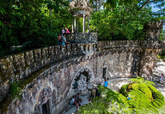 Roaming the gardens at Quinta da Regaleira.