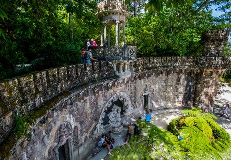Roaming the gardens at Quinta da Regaleira.