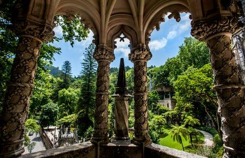 The gardens of Quinta da Regaleira.