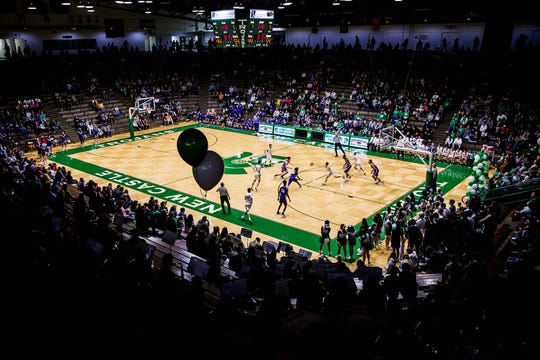 The New Castle Fieldhouse, the largest high school gym in the country, is expected to hold a crowd of 7,000-8,000 for the sectional semifinals on Friday night.