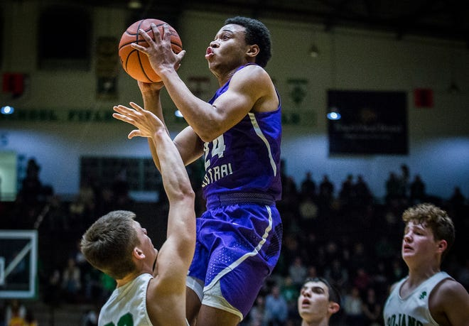 Central's Victor Young, shown here going up for a shot against New Castle, was the leading scorer for the Bearcats this season as they finished with their first winning season since 2015-16.