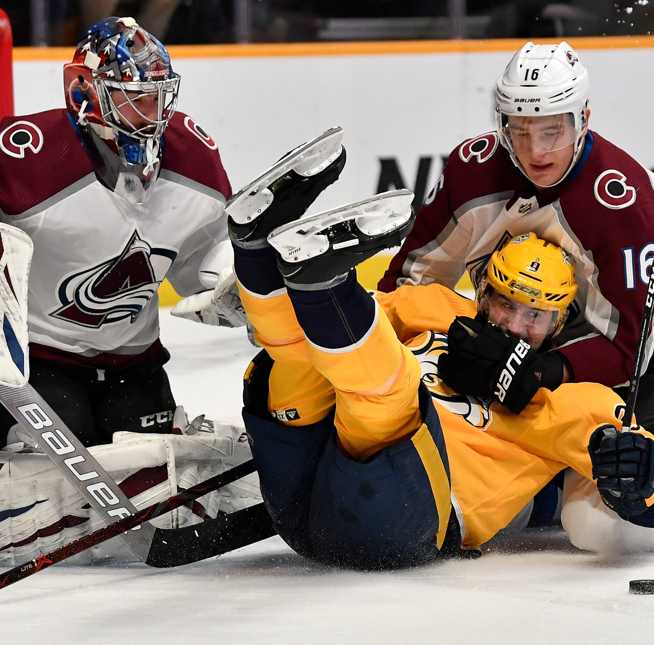 Nathan MacKinnon scores twice as Avalanche topple Predators