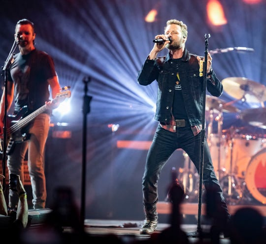 Dierks Bentley performs at Bridgestone Arena Friday, February 22, 2019.