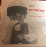 Longtime Bonita Springs Little League coach and new president Billy Cobb is shown as a youth in an old issue of The Banner, circa 1983.