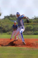 Seaver Argabright, a pitcher for GUlf Coast High School, is a graduate of the Bonita Springs Little League.