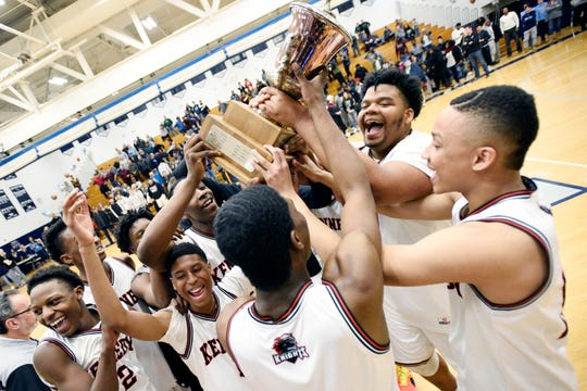 Kennedy beat Clifton in the 2019 Passaic County basketball final.