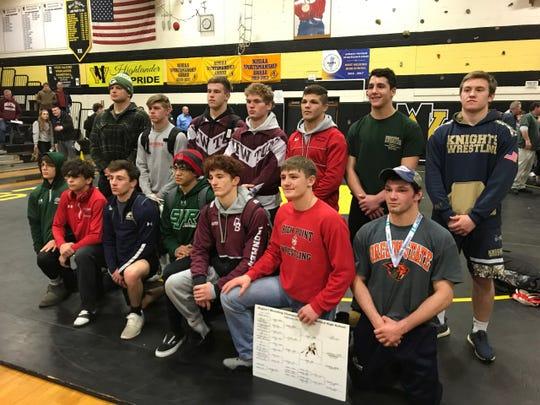 The 2019 Region 1 wrestling champions.