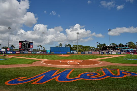Feb 23, 2019; Port St. Lucie, FL, USA; A general view at First Data Field prior to the game between the New York Mets and the Atlanta Braves.
