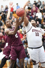 Jalen Hargrove (right) and Kennedy received the No. 1 seed and look to repeat as champions at the 50th Passaic County boys basketball tournament.