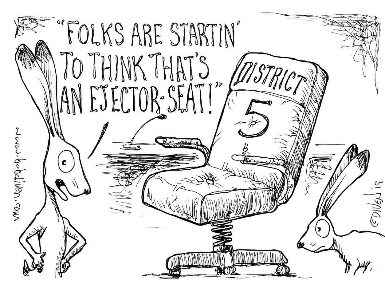 Editorial cartoon published Feb. 24, 2019