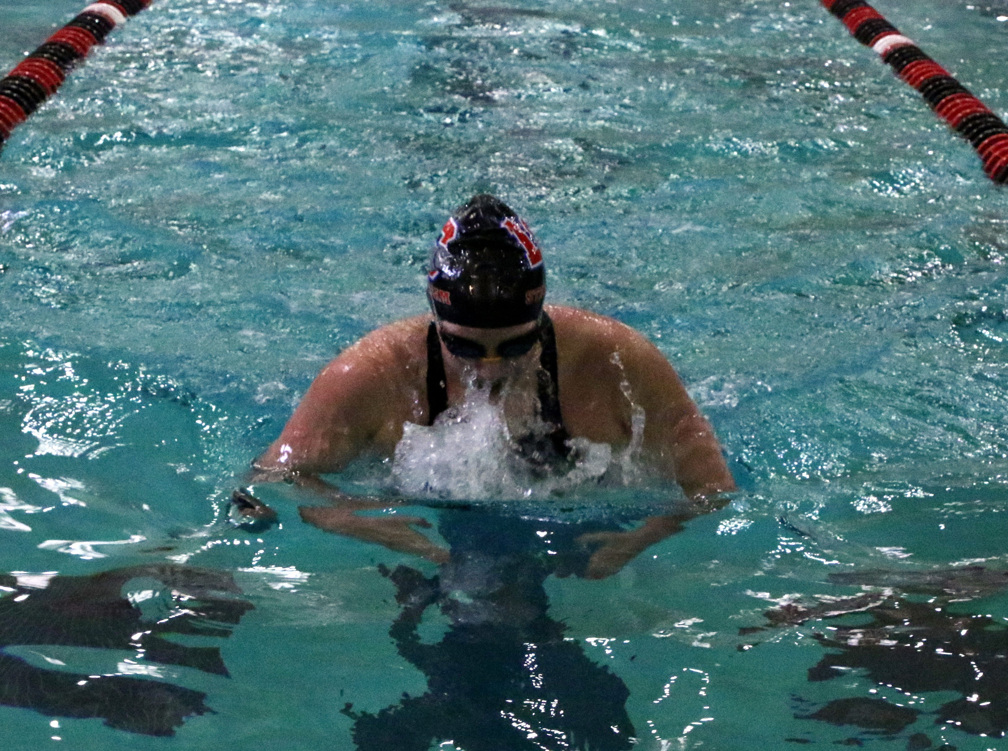 Las Cruces' Ainslie Boswell swims in the 200-yard individual medley race on Friday.