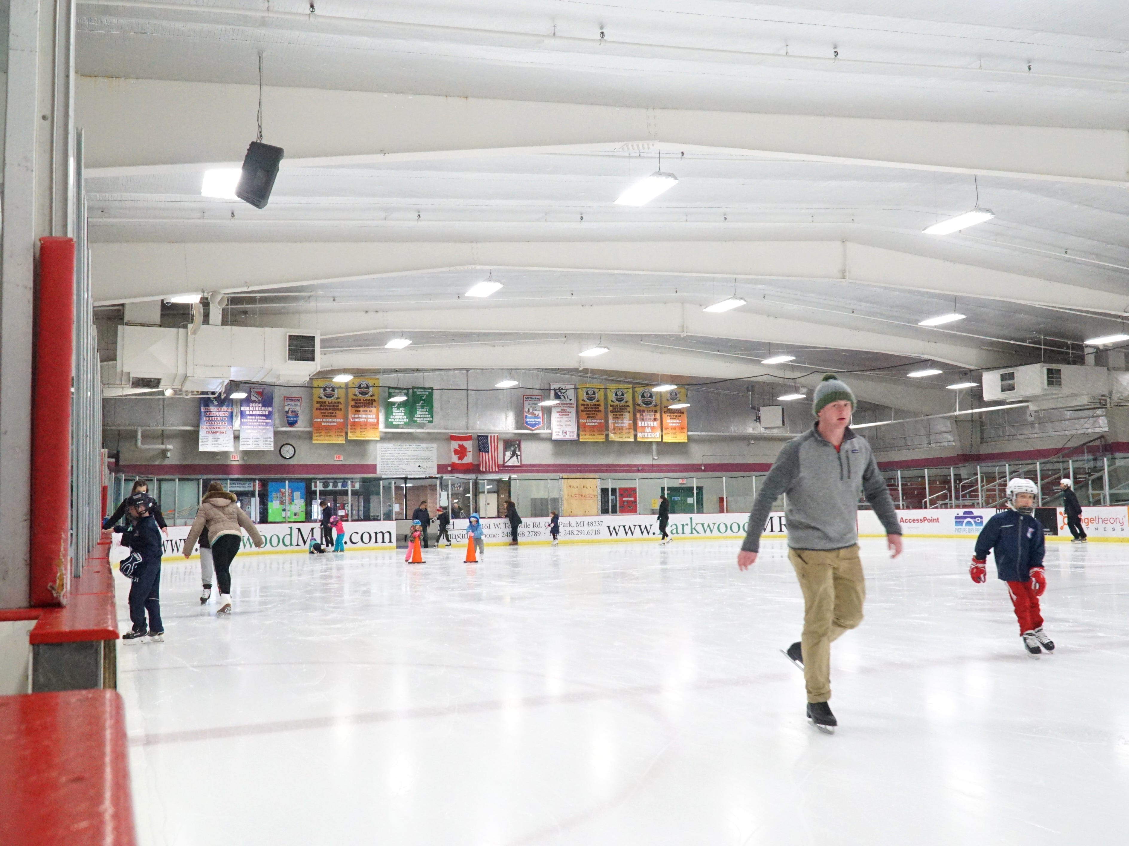 Skaters hit the ice at the Birmingham Ice Arena on Feb. 22.