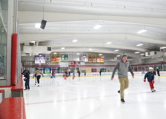 Skaters hit the ice at the Birmingham Ice Arena in this 2019 photo. The Birmingham city commission plans to talk in detail about the ice arena during a workshop Monday.