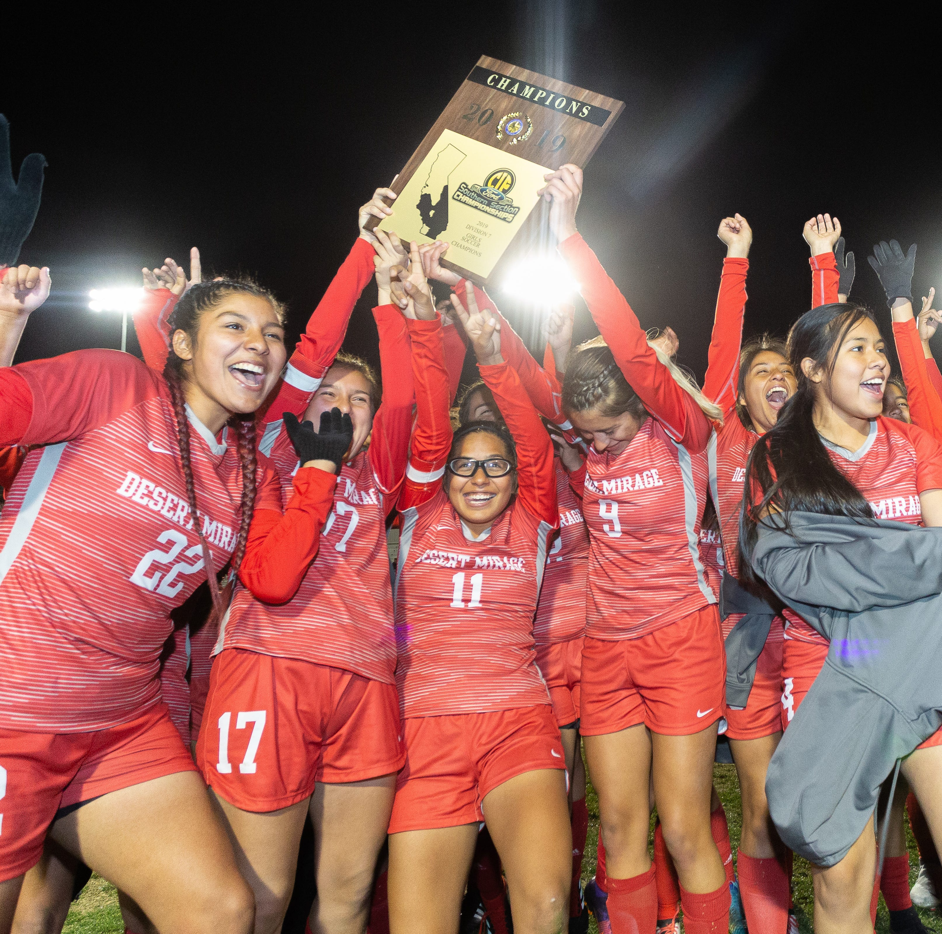 Desert Mirage wins first girls' soccer CIF title in Coachella Valley history
