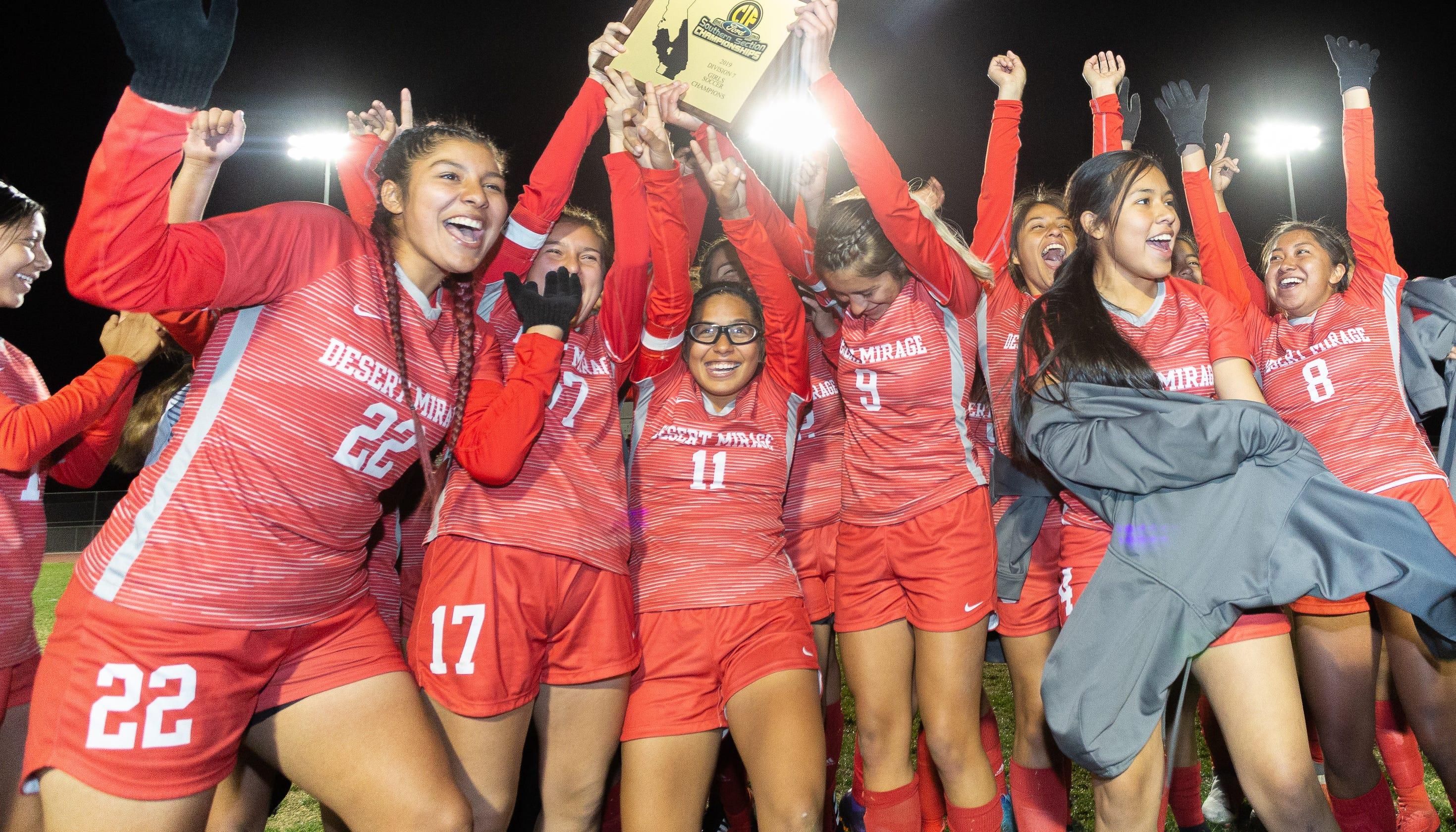 dd9b2248eb Desert Mirage wins first girls  soccer CIF title in Coachella Valley history