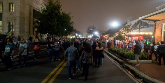 Low-lying dense fog added a bit of ambience for the Pensacon-themed Gallery Night on Friday, February 22, 2019. Normally hosted on the third Friday of each month, Gallery Night was moved back a week to coincide with Pensacon weekend this month.