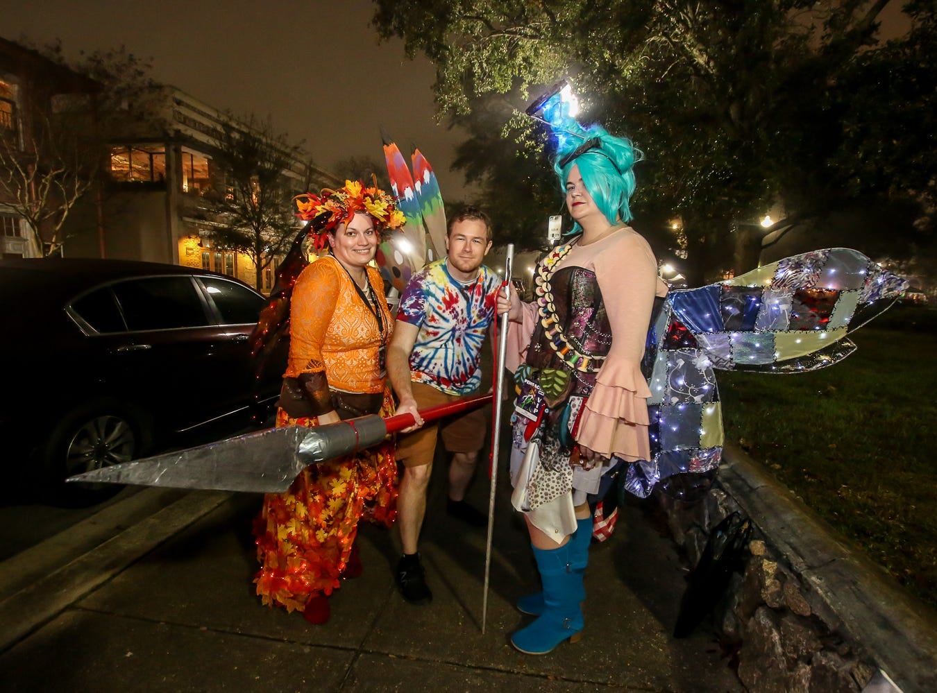Pensacon fans gathered at Gallery Night in downtown Pensacola during the first night of the annual Comic Con convention on Friday, Feb. 23, 2019.