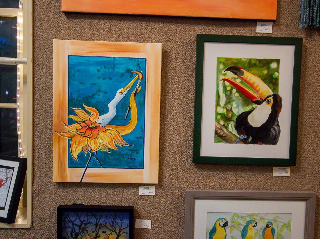 Some of the pieces on display at Quayside Art Gallery during Gallery Night on Friday, February 22, 2019.