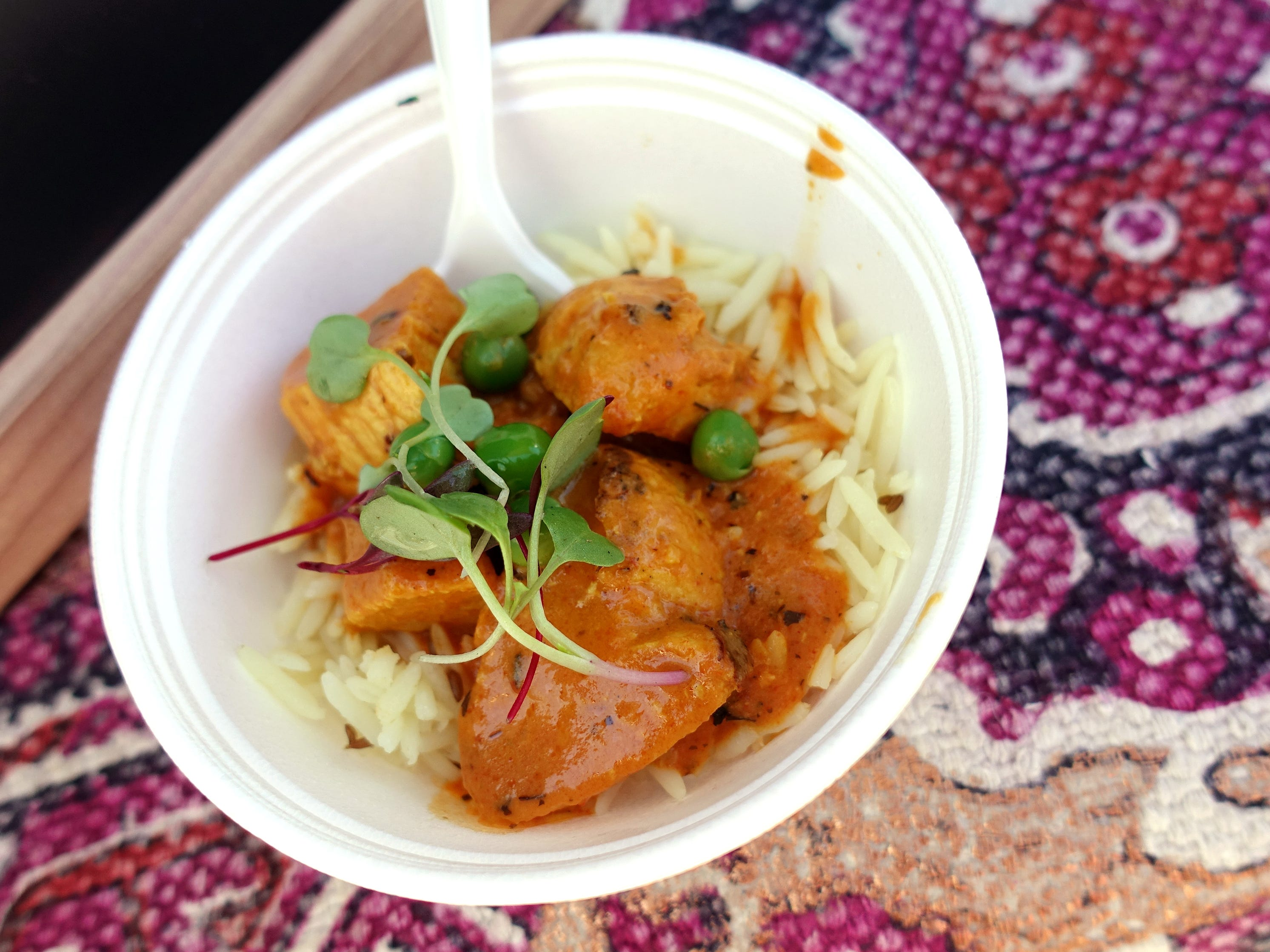Chicken tikka masala from Marigold Maison at the Devour Culinary Classic at the Desert Botanical Garden in Phoenix.