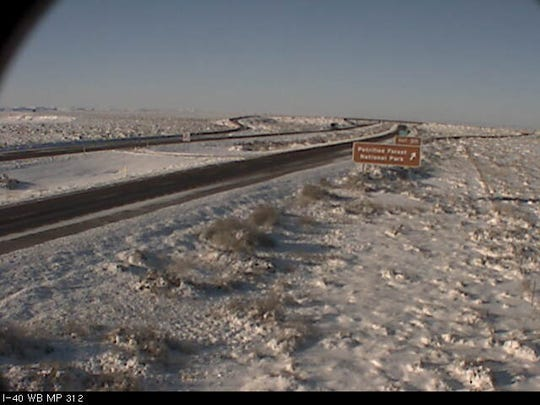 Traffic camera of Interstate 40 at milepost 312 on Feb. 23, 2019.