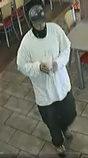 Burger King armed robbery suspect.