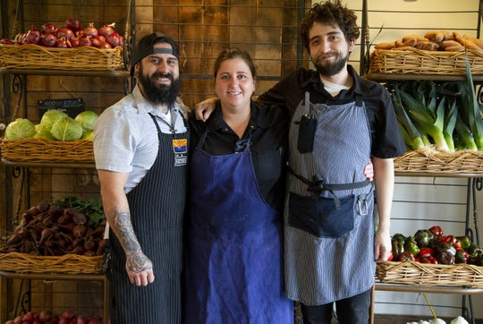 Singh Meadows cook Carlos Carbejal, chef Sacha Levine and cook Kevin Dragos create colorful and healthy dishes in Tempe.