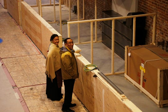 From left, Yan Ji and Karma Lama survey the future home of their food booth, Momo Valley at the Hudson Valley Food Hall in Beacon on February 20, 2019. The pair will make Nepalese style dumplings.