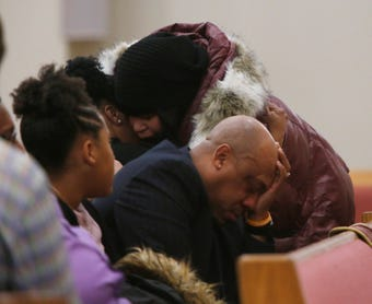 Jaquan Cesar died helping a stranded motorist on the Cross Bronx Expressway on Feb 11; family and friends gather in Poughkeepsie to remember his life.