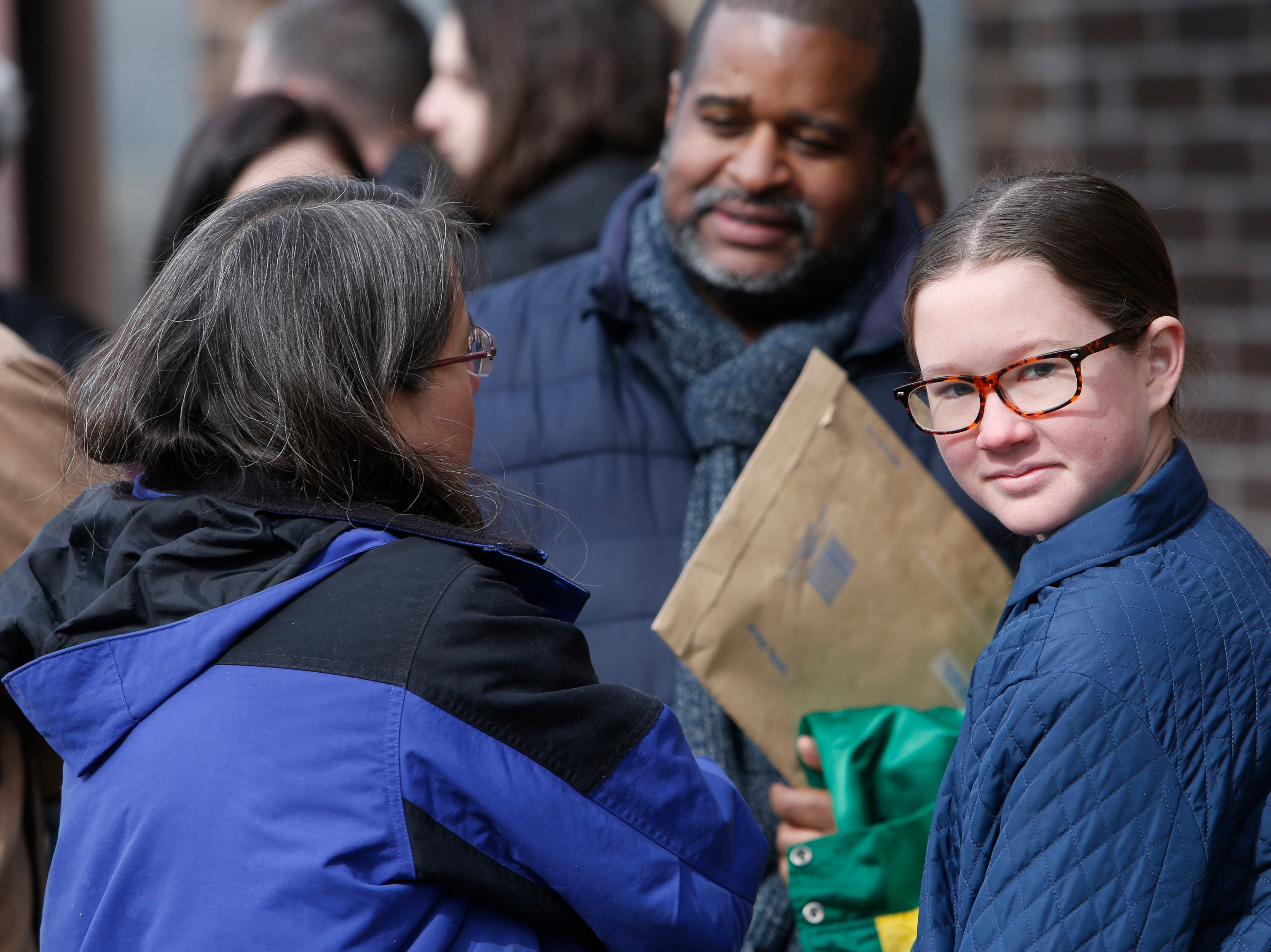 """Evelyn House of the Town of Poughkeepsie on line for Saturday's open casting call for an HBO series staring Mark Ruffalo, called """"I Know This Much is True"""" at the Majed J. Nesheiwat Convention Center in the City of Poughkeepsie on Feb 23, 2019."""