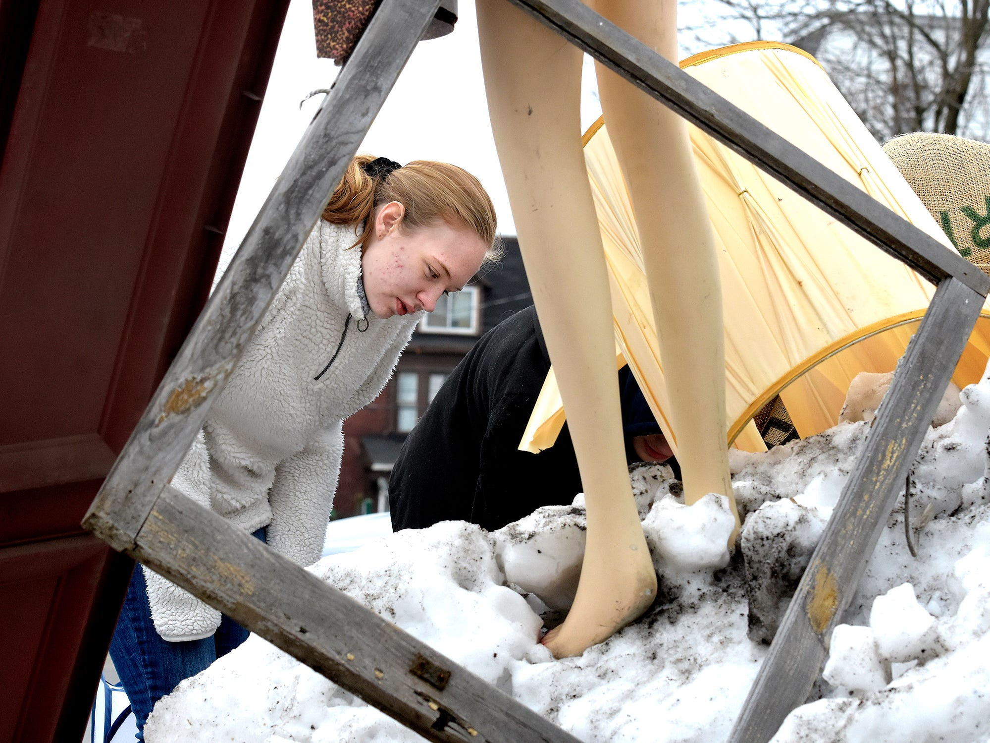 Central High School senior Devon Russell looks for items for her entry in the York County Solid Waste Authority Recycled Art Contest during Picker Day  at the architectural salvage warehouse Refindings in York City Saturday, Feb. 23, 2019. The waste authority is sponsoring the fifth annual contest for York County high school students to promote recycling and celebrate Earth Day. Students create sculptures by mid-April from the materials donated by Refindings and the contest exhibit will be on display in the Marketview Arts Gallery, 37 W. Philadelphia St., beginning Sunday, April 14. Contest winners will be announced there during an awards event April 18. Bill Kalina photo