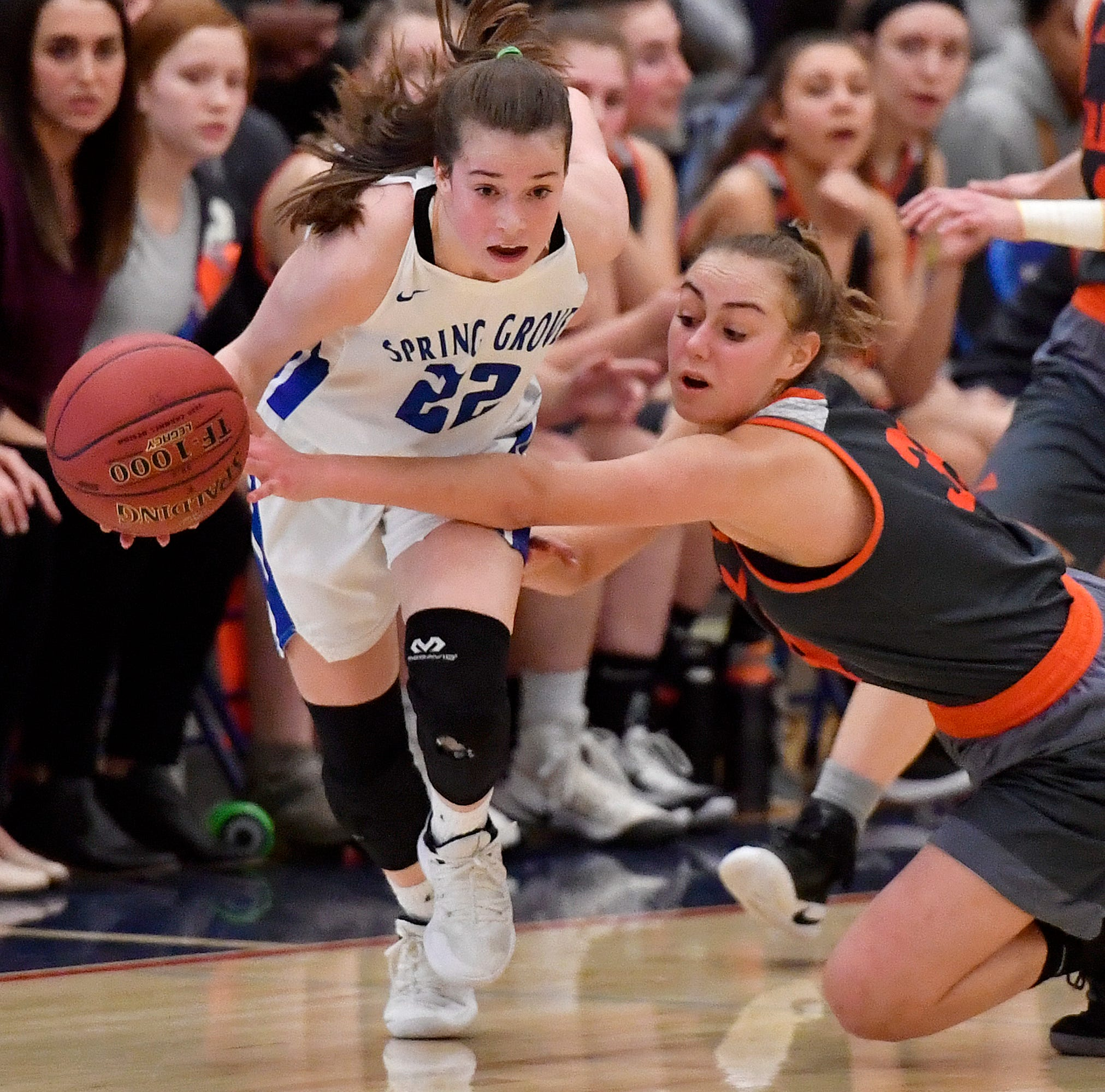 Spring Grove girls fall to Palmyra; coach Troy Sowers says game was 'stolen' by referees