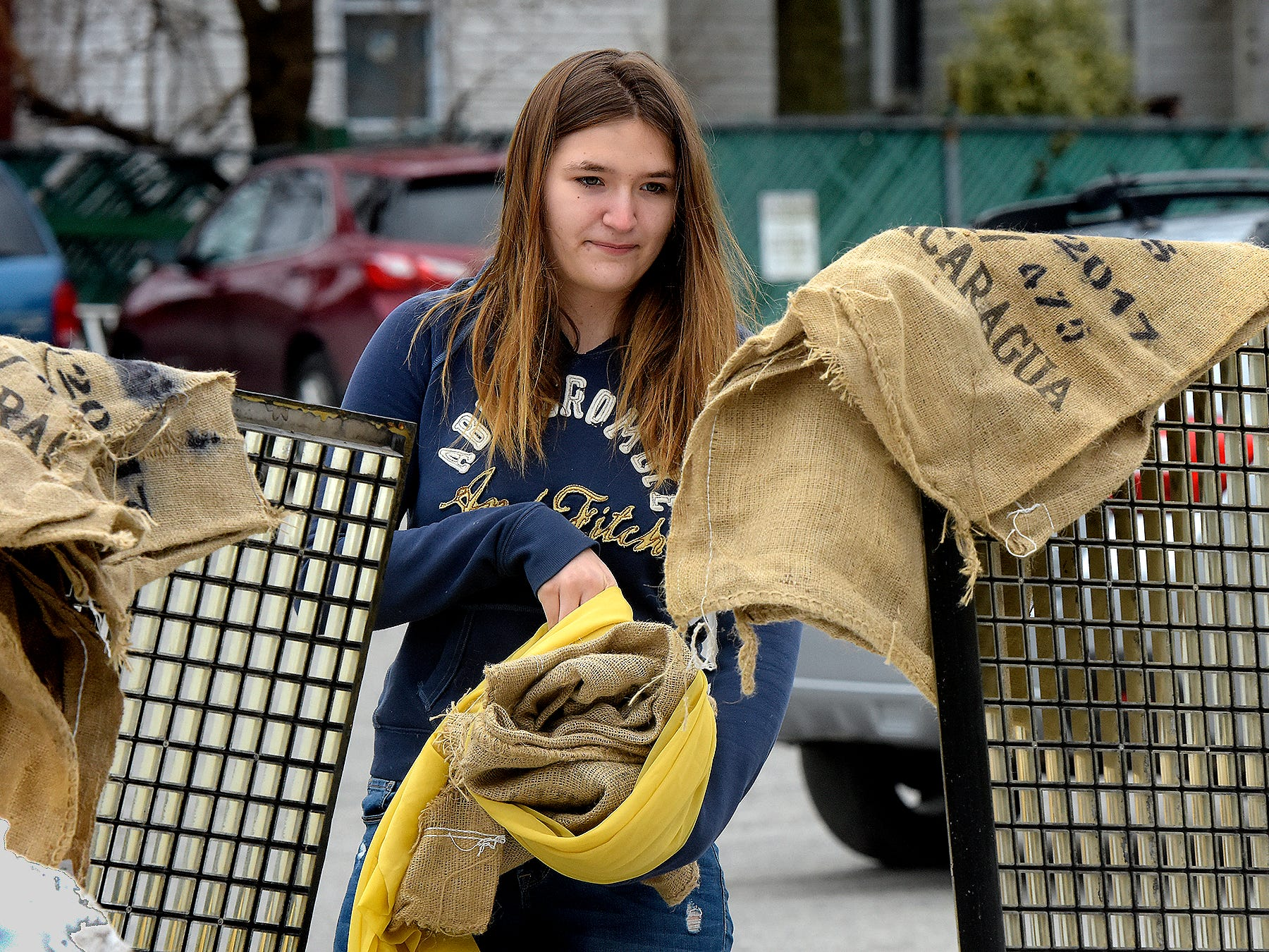 Kennard-Dale High School junior Sophia Castro collects items for her entry in the York County Solid Waste Authority Recycled Art Contest during Picker Day at the architectural salvage warehouse Refindings in York City Saturday, Feb. 23, 2019. The waste authority is sponsoring the fifth annual contest for York County high school students to promote recycling and celebrate Earth Day. Students create sculptures by mid-April from the materials donated by Refindings and the contest exhibit will be on display in the Marketview Arts Gallery, 37 W. Philadelphia St., beginning Sunday, April 14. Contest winners will be announced there during an awards event April 18. Bill Kalina photo