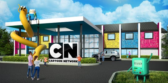 An artist's rendering of the new Cartoon Network Hotel in East Lampeter Township.