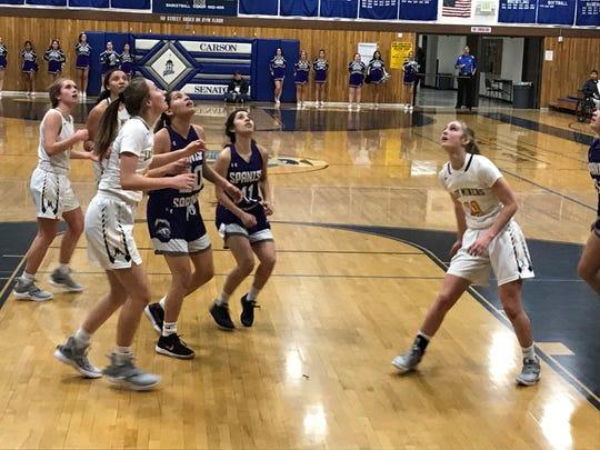 Spanish Springs beat Bishop Manogue, 57-54, Friday in a Northern 4A girls semifinal basketball game at Carson.