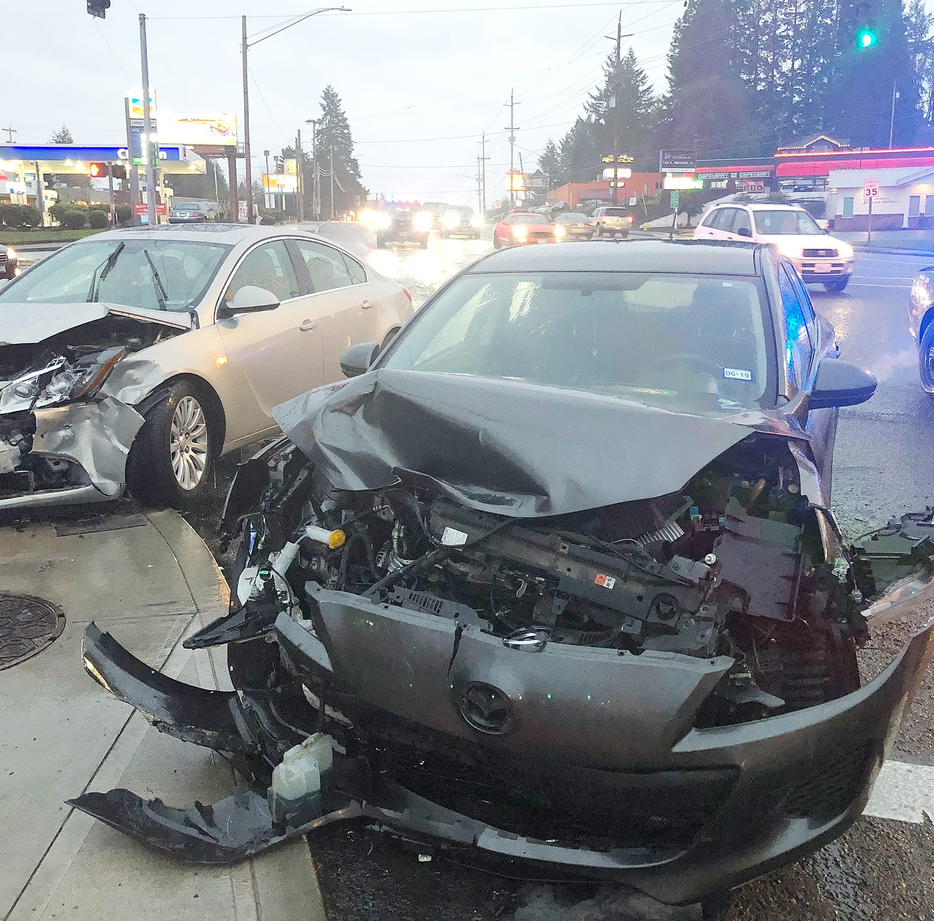 Crash stalls traffic at Commercial Street SE, Madrona Avenue SE