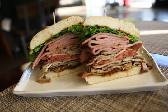 The BLT at Wild Thyme and Cafe is stacked -- and almost four inches tall.