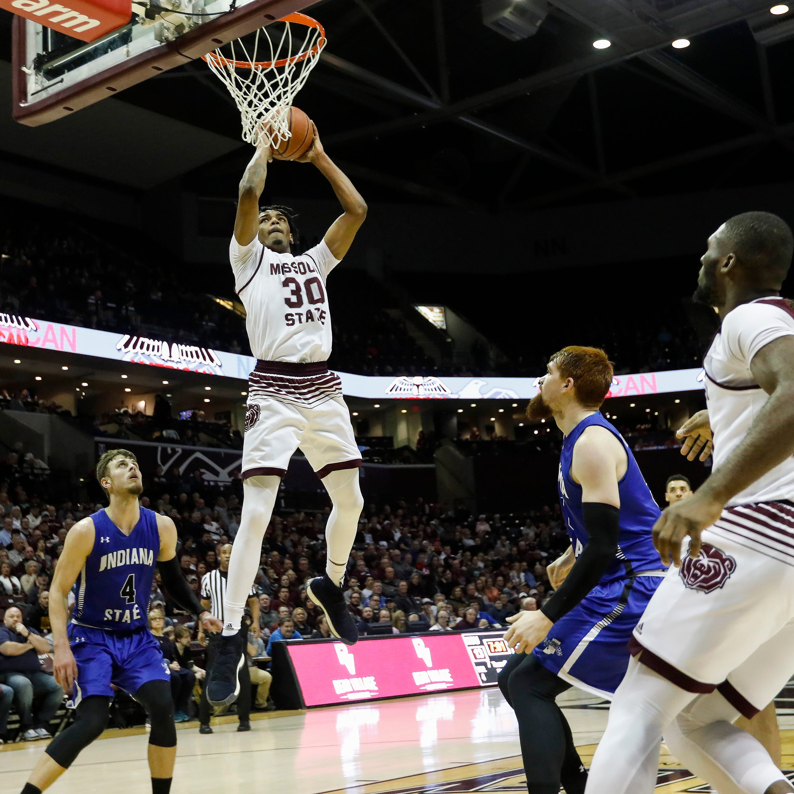 Missouri State stays in Valley title race with bounce-back win over Indiana State