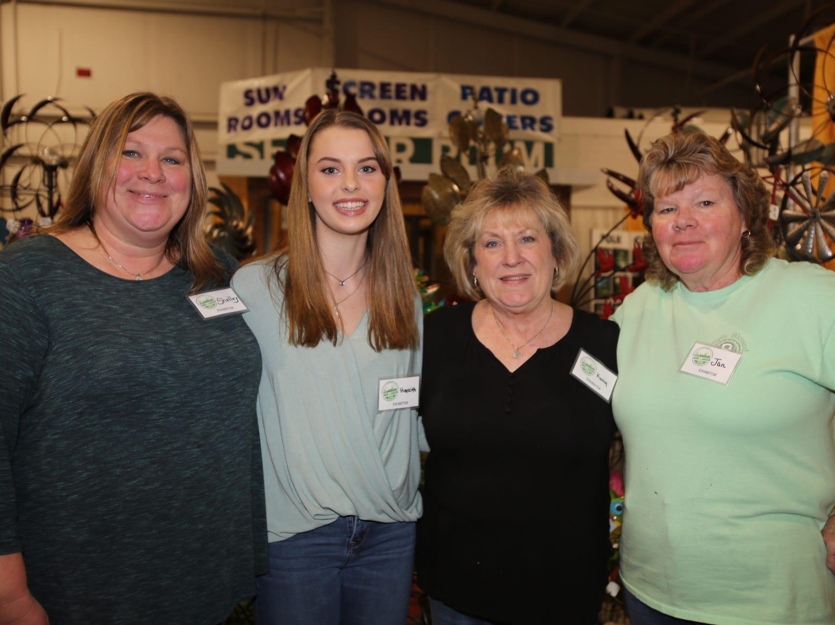 Shelley and Kayleigh Girth, Kathy Phelps, and Jan Markle